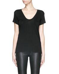 Helmut Lang Black Cotton-cashmere T-shirt
