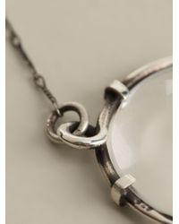 Ann Demeulemeester Metallic Transparent Ball Necklace
