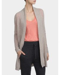 White + Warren Natural Cashmere Luxe Placket Cardigan