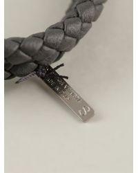 Bottega Veneta - Black Intrecciato Bracelet - Lyst