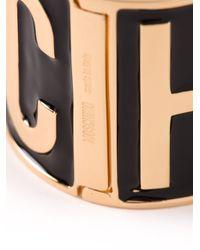 Moschino | Metallic Logo Cuff | Lyst