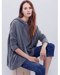 Free People | Gray Sunset Surplice Hoodie | Lyst
