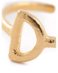 Bjorg | Metallic 'd Alphabet Ring' | Lyst