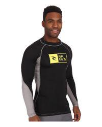 Rip Curl - Black Ripawatu Long Sleeve Rashguard for Men - Lyst