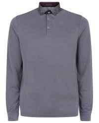 Ted Baker Gray Vak Polo Shirt for men