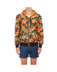 Sundek - Orange Tropical-print Hoodie for Men - Lyst