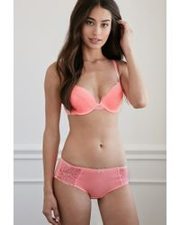 Forever 21 - Pink Floral Lace Push-up Bra - Lyst
