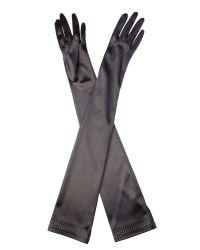 Cornelia James - Black Perdita Duchess Satin Gloves - Lyst