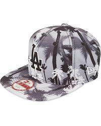 KTZ Gray Miami Vibe 9fifty La Dodgers Strapback Cap, Men's, Size: S/m, Grey for men