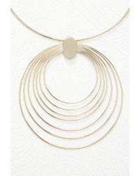 Forever 21 - Metallic Concentric Pendant Necklace - Lyst