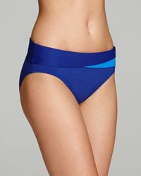 Tommy Bahama Blue Deck Piping High Waist Bikini Bottom