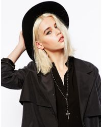 ASOS | Black Limited Edition Cross Rosary Necklace | Lyst