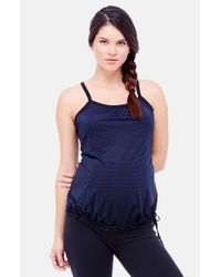 Ingrid & Isabel - Blue Ingrid & Isabel Stripe Maternity Active Tank - Lyst