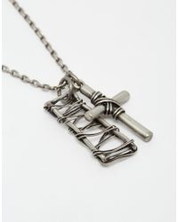 Seven London - Metallic Cross Necklace for Men - Lyst