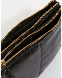 Oasis Black Real Leather Cross Body Bag
