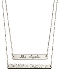 Coordinates Collection | Metallic 22k Gold-plated Fjord Pendant Necklace | Lyst