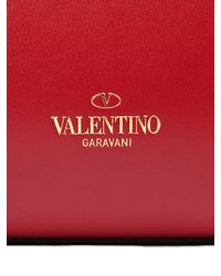 Valentino Red Small Rockstud Nappa Leather Top Handle