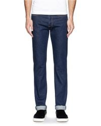 Givenchy - Black Star Cotton Skinny Jeans for Men - Lyst