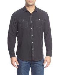 Tommy Bahama | Blue 'sea Twill' Island Modern Fit Flannel Shirt for Men | Lyst