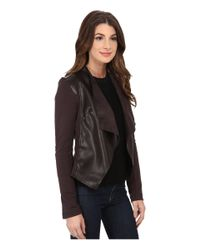 Kut From The Kloth - Brown Faux Leather Drape Jacket - Lyst
