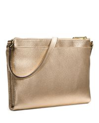 e349ca6898db Lyst - Michael Kors Michael Extra Large Bedford Crossbody in Metallic