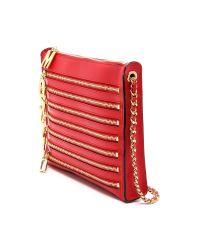 Moschino | Zipper Clutch - Red | Lyst