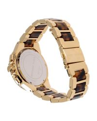 Michael Kors Brown Camille Two-Toned Watch