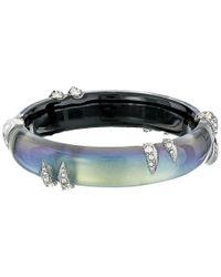 Alexis Bittar | Metallic Encrusted Spike Hinge Bracelet | Lyst