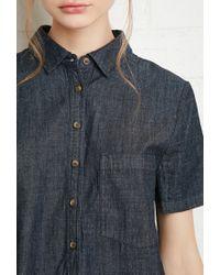 Forever 21 | Blue Denim Shirt Dress | Lyst