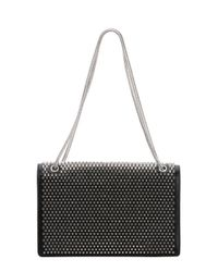 Saint Laurent - Metallic Black Leather Studded Medium 'betty' Shoulder Bag - Lyst