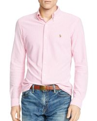 Polo Ralph Lauren | Pink Knit Oxford Shirt - Regular Fit for Men | Lyst