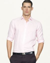 Ralph Lauren - Pink Black Label Tailored Linen Sloan Sport Shirt for Men - Lyst