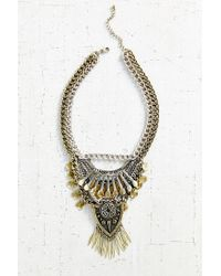 Urban Outfitters | Metallic Traced Travels Fringe Necklace | Lyst