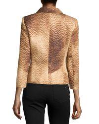 ESCADA - Brown Printed Hidden-closure Jacket - Lyst