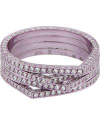 Repossi | Purple Diamond & Lilac Rhodium-Plated White Gold Antifer Ring | Lyst