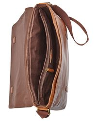 Fossil - Brown Aiden Leather Messenger Bag for Men - Lyst