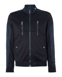 DIESEL | Blue J-madara Zip Up Jacket for Men | Lyst