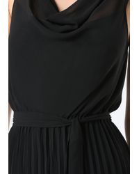 Bebe | Black Pleated Wide Leg Jumpsuit | Lyst