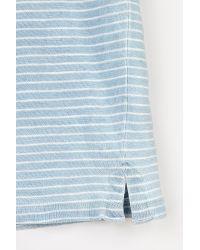 Velvet By Graham & Spencer Blue Adler Sun-faded Stripe Pocket Tee for men