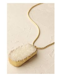 Anthropologie | White Glacier Pendant Necklace | Lyst
