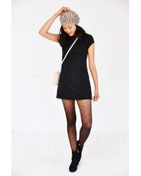 Kimchi Blue Black Damask Empire Mini Dress