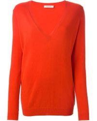 Nina Ricci - Orange V-neck Sweater - Lyst