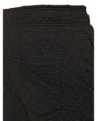 Tom Rebl Black 3D Pattern Cotton Blend Jogging Trousers for men