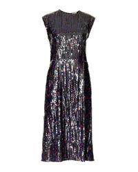 Nina Ricci Blue Embellished Dress