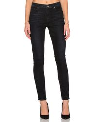 7 For All Mankind | B(air) Distressed Skinny Ankle Jeans In Black | Lyst