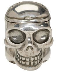 Alexander McQueen | Metallic Silver Skull Doctor Ring for Men | Lyst