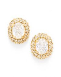 kate spade new york | Metallic 'sweet Sparkle' Cluster Stud Earrings - Clear/ Gold | Lyst