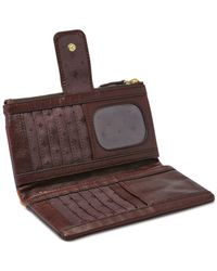 Fossil Brown Emory Leather Clutch Wallet