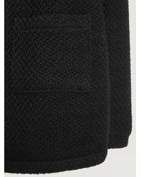 Violeta by Mango Black Side Pocket Wool Blend Jacket