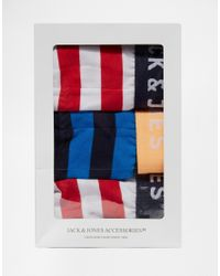 Jack & Jones | Multicolor 3 Pack Briefs With Stripe for Men | Lyst